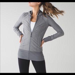 Lululemon grey daily practice jacket size 4